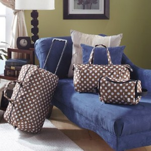 3-pc. Trendy Luggage Sets-Polka Dots