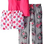Sleep & Co Big Girls' Owl 3 Piece Pajama Sleep Set
