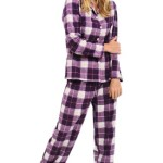 Del Rossa Women's 100% Cotton Flannel Pajama Set - Long Pjs