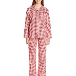 Bottoms Out Women's Gingham Flannel Pajama Set