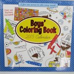 Paper Craft 2015 Boys 16 Month Coloring Book with Over 100 Stickers Included