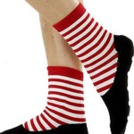 Ballet Slipper Non-Skid Slipper Socks by Foot Traffic - Pink/Black Size 4-10