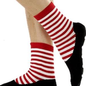 Ballet Slipper Non-Skid Slipper Socks by Foot Traffic – Pink/Black Size 4-10