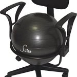 Sivan Health and Fitness Arm Rest Adjustable Back Balance Ball Fit Chair with Ball and Pump