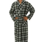Alexander Del Rossa Men's Cotton Classic Flannel Bathrobe Robe