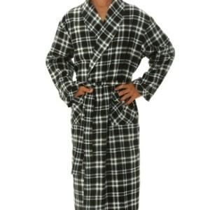 Alexander Del Rossa Men's Cotton Classic Flannel Bathrobe Robe