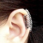 CHOPMALL®Punk Skull Spine Without Hole Ear Cuffs (1 Pcs)