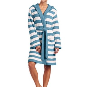 Casual Moments Women's Marshmallow Hooded Wrap Robe