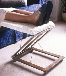 Adjustable Foot Stool with Fleece Foam Cushion