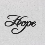 Hope Word Decorative Metal Wall Art