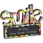 COLORFUL DEVOTIONS by DEMDACO Smile Sculpture Décor
