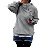 Finejo Women Long-sleeve Hoodie Sweatshirt Pullover