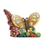 Enesco Jim Shore Heartwood Creek Mini Butterfly Figurine, 2.375-Inch