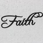 Faith Word Decorative Metal Wall Art
